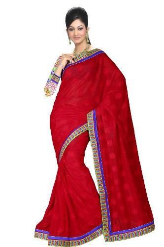Handloom Sarees-Alluring Red 12