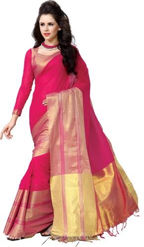 Handloom Sarees-Fluffy Pink Hamdloom Saree 14