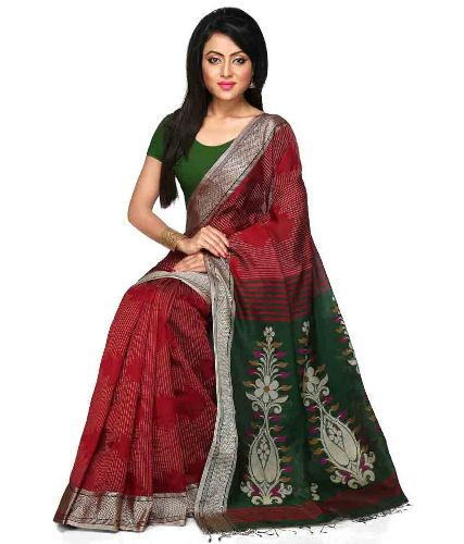 Handloom Sarees-Handloom Saree With Floral Designs 13