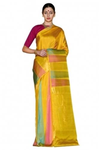Handloom Sarees-Yellowish Handloom Saree 6