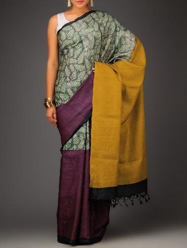 Handwoven Saris-Hand Woven Organic Silk Saree