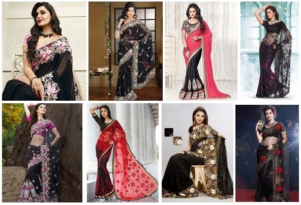 Latest & Gorgeous Black Sarees With Pictures