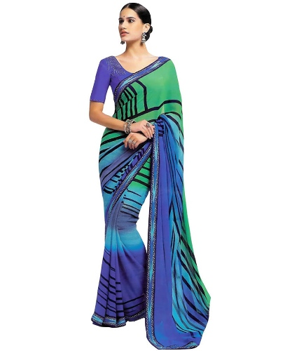 Laxmipati Blue Saree 11