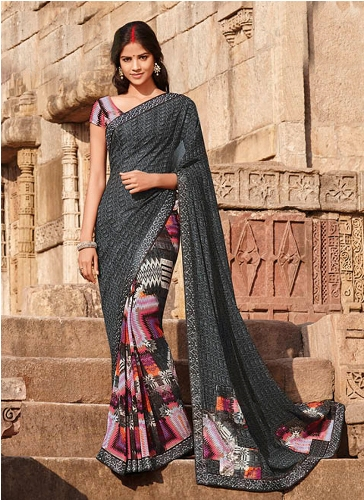 Laxmipati Georgette Printed Saree 13