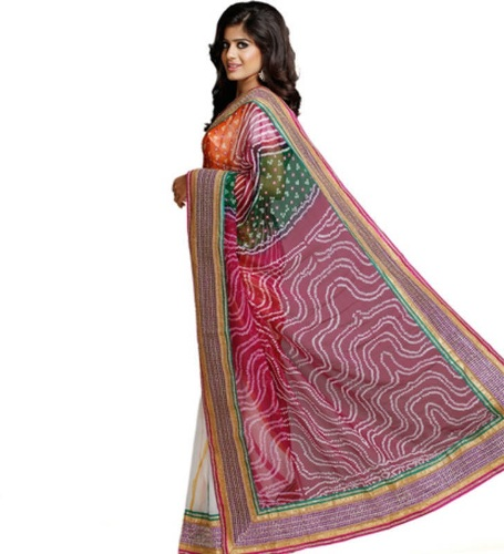 Leheriya And Bhandni Saree 7