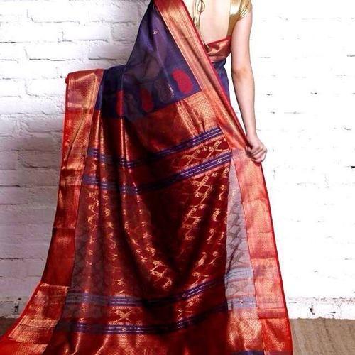 Maheshwari Sarees-Purple And Red Silk Maheshwari 1