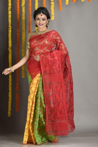 Multicolour Dhakai Jamdani Saree 8