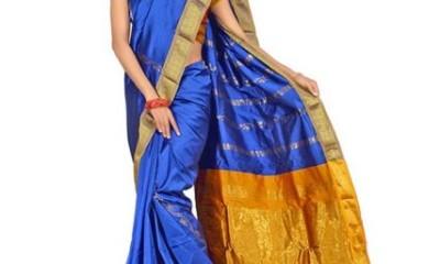 Nalli Sarees-Minaxi Blue Nalli Cotton Saree 13