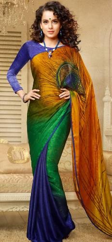 Nalli Sarees-Peacock Feather Printed Nalli Saree 5