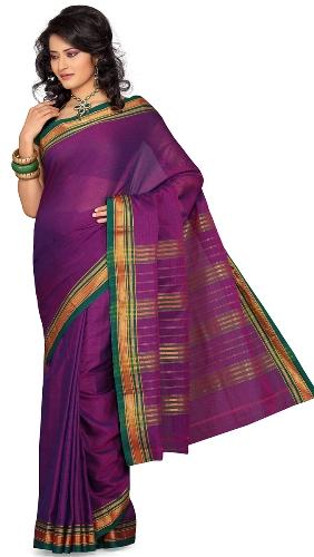 Nalli Sarees-Purple Cotton Saree 14