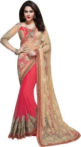 Party Wear Sarees-Heavy Embroidered Party-wear Saree 10