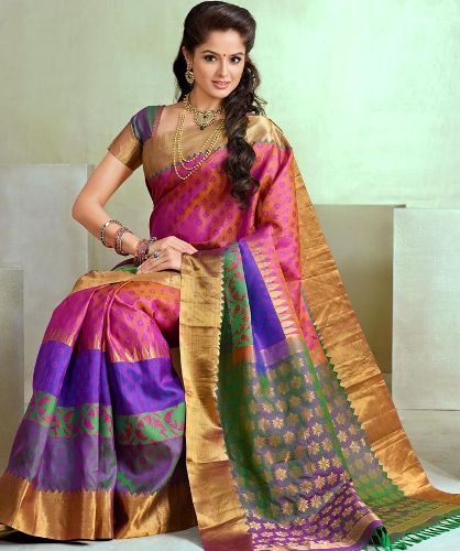 Pink Coloured Kanchi Pattu Saree