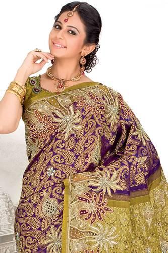 Pattu Sarees-Purple Pattu Wedding Saree With Stone Work 10