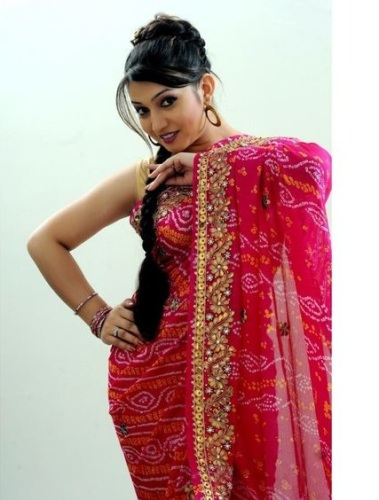 Pink Color Pure Crepe Bandhani Saree