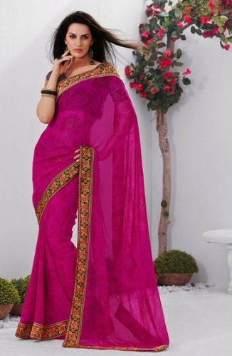 Pink Cotton Laxmipati Saree 4