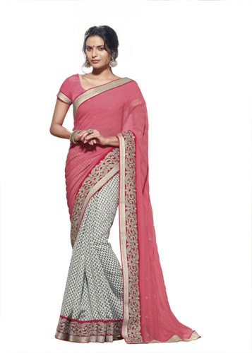 Pink Laxmipati Saree 1
