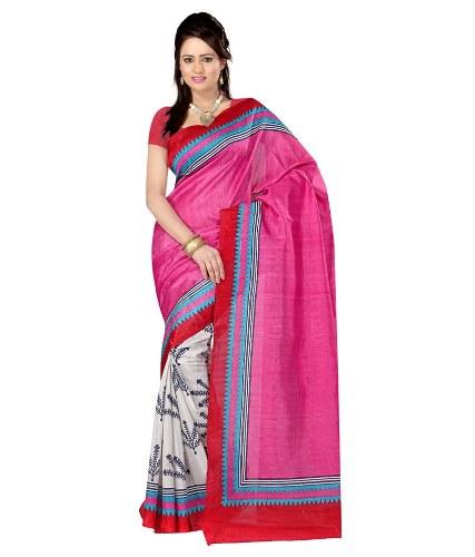 Pink Radhika Saree With Heavy Embroidery 8