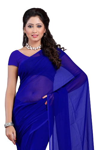 simple plain sarees