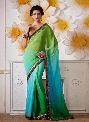 Plain Saris-Sea Queen 9