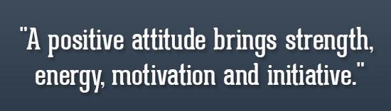 Types Of Attitude Positive Attitude