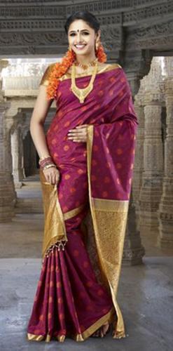 Pothys Sarees-Pothys Maroon Kanjeevaram Silk Saree 8