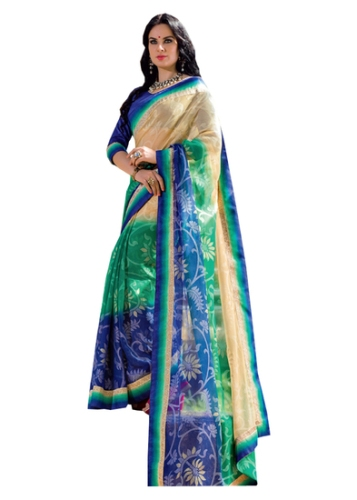 Radhika Multicoloured Chiffon Saree 3