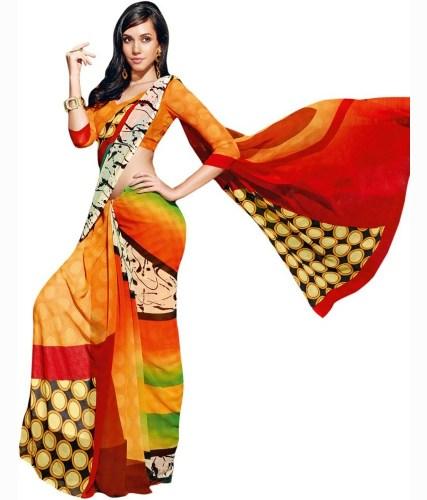 Radhika Sarees-Shades Of The Sun Georgette Sari 6