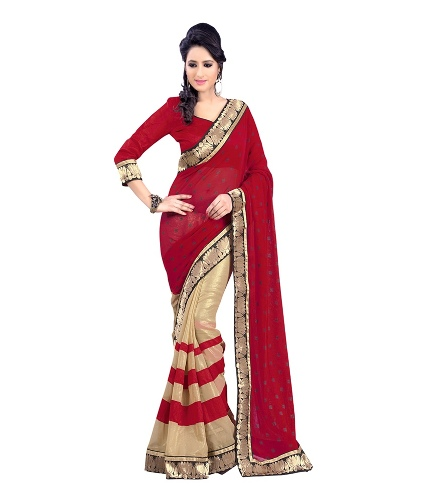 Red Laxmipati Saree 3