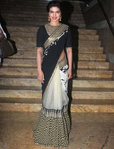 Sabyasachi Sarees-Black Sabyasachi Party-Wear Saree 9