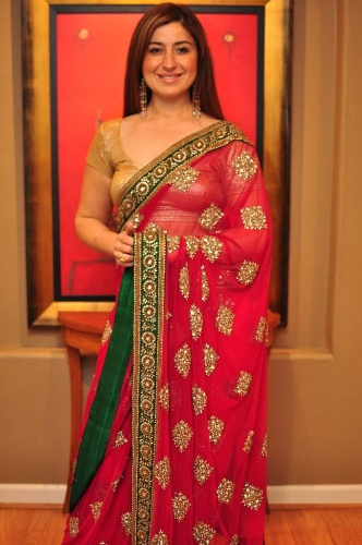 Sabyasachi Sarees-Red Net Saree By Sabyasachi 12