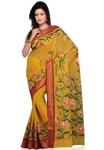 Tant Sarees -Floral Designer Tant 4