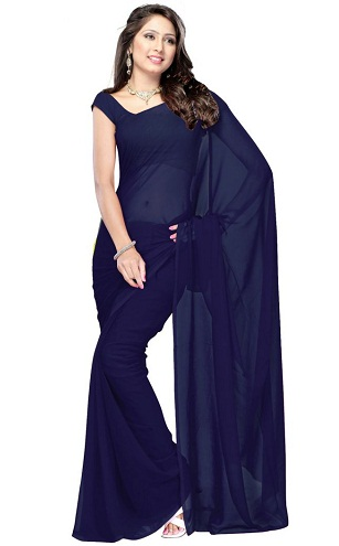 The Best Navy Blue Saree