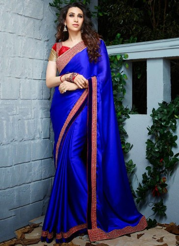 The Blue Silk Designer Saree 9