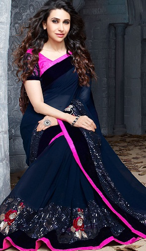 The Celeb Look Navy Blue Saree