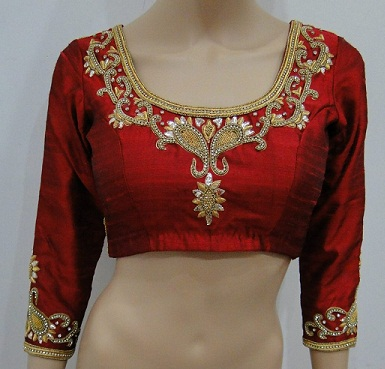 The Coolest Neck Design for Silk Blouse