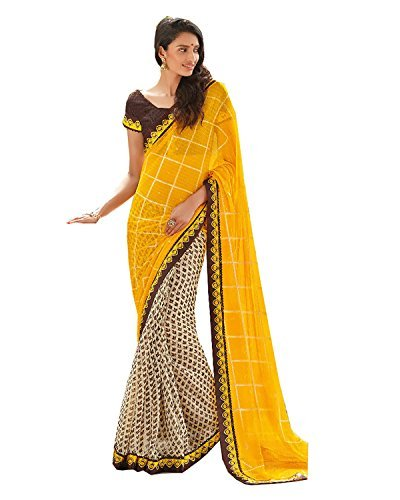 Women's Favorite Yellow Laxmipati Saree 14