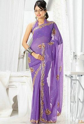 zari-worked-violet-saree