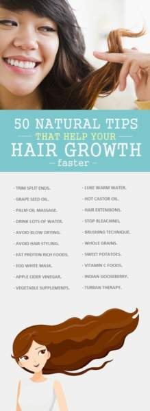 50 Best Natural Tips For How To Make Hair Grow Faster