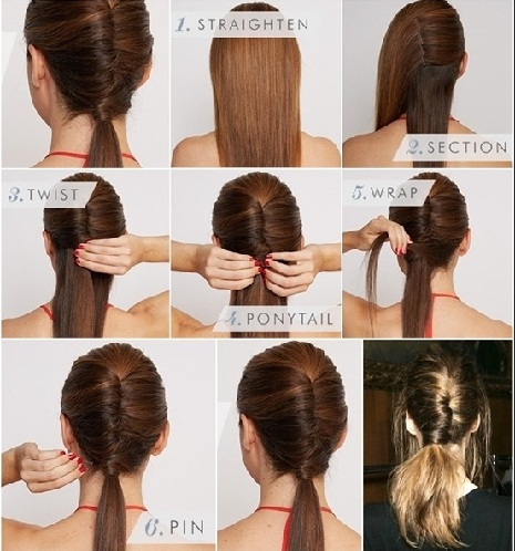 Chic Diy Chignon Ponytail Hairstyle