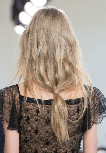 Relaxed and Low Ponytails for Long Hair