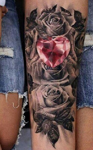 25 Brilliant Diamond Tattoo Designs For Men And Women Styles At Life