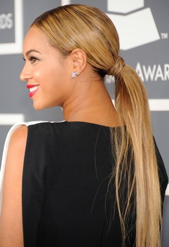 Sleek and Low Long Ponytails Hairstyle
