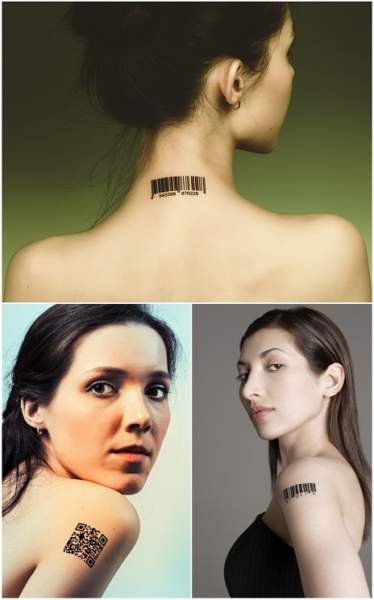barcode tattoo designs