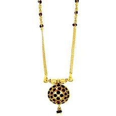 15 Inches Small Mangalsutra With Hanging Pendant Enamel