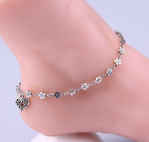 girl anklet women item jewelry european popular sexy foot shiny fashion beach geometric shell anklets bracelet bracelets