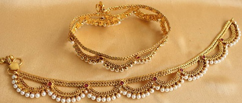 anklet-designs-antique-pearl-anklet