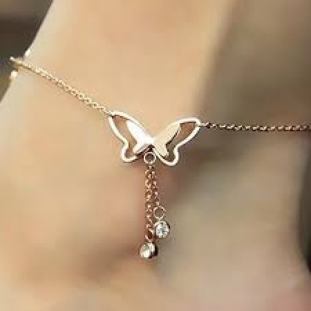 anklet-designs-simple-butterfly-anklet