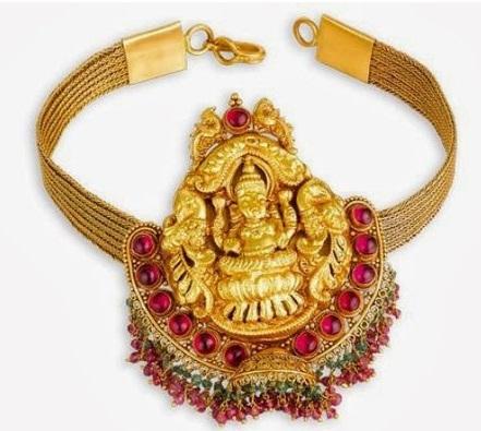 armlet-designs-diamond-precious-stones-goddess-lakshmi-armlet