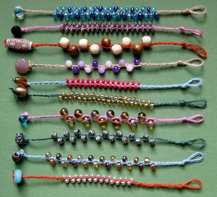 beaded-braid-friendship-bracelets 6