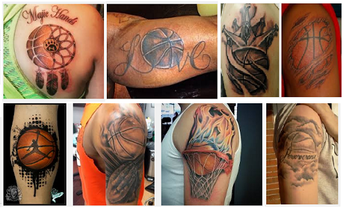 basketball tattoo designs